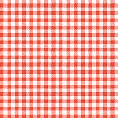 Seamless Checkered seamless Pattern. Red and white tablecloth background. Picnic gingham cloth template. Retro craft art print curtains fashioned style fabric vintage square.