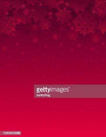 Red christmas background with snowflakes and stars, vector illustration : Vector Art