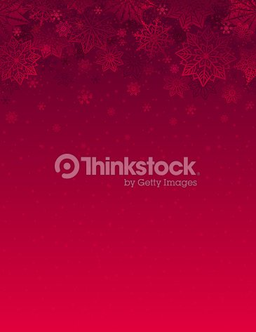 Red christmas background with snowflakes and stars, vector illustration : stock vector