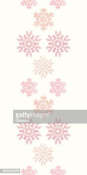 Flocons de neige de Noël rouge Textile géométrique Texture de motif sans couture verticale fond : Clipart vectoriel