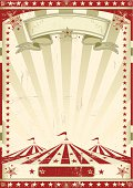 A circus vintage poster for your advertising