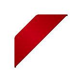 red corner ribbon