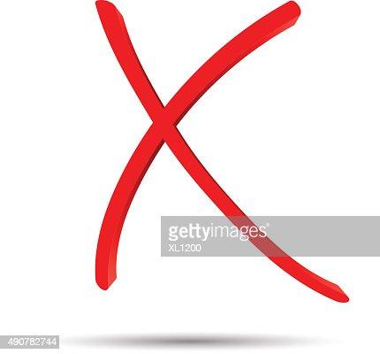 red cross mark on white background vector art thinkstock