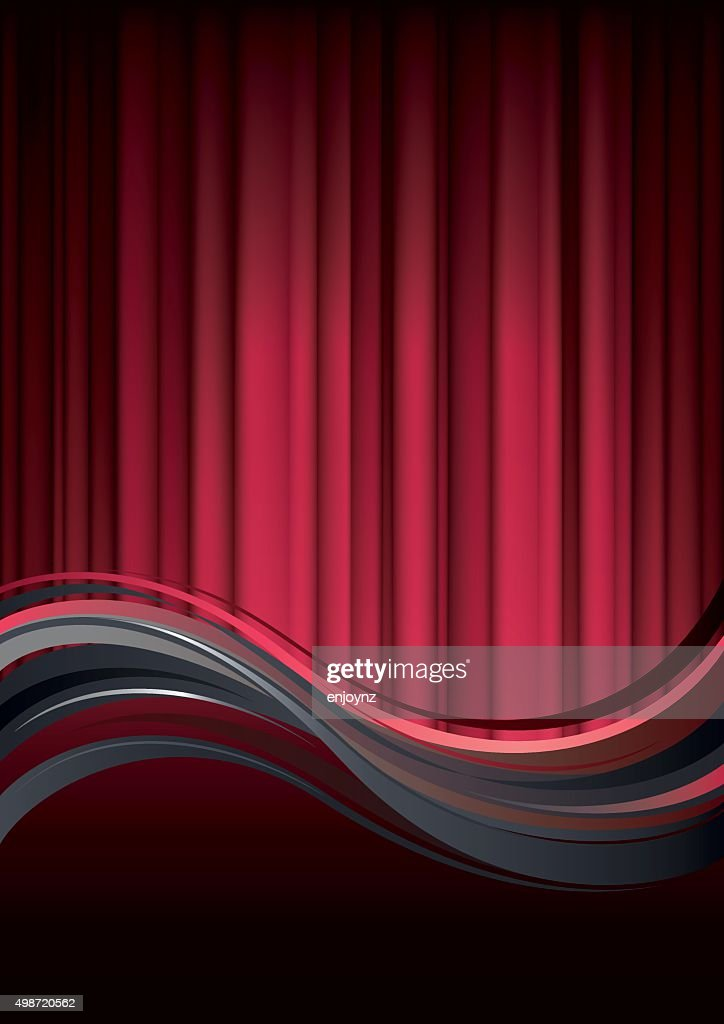 Red Curtain Background : Vector Art