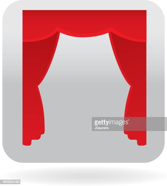 Red curtain icon