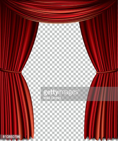 Red curtain : stock vector