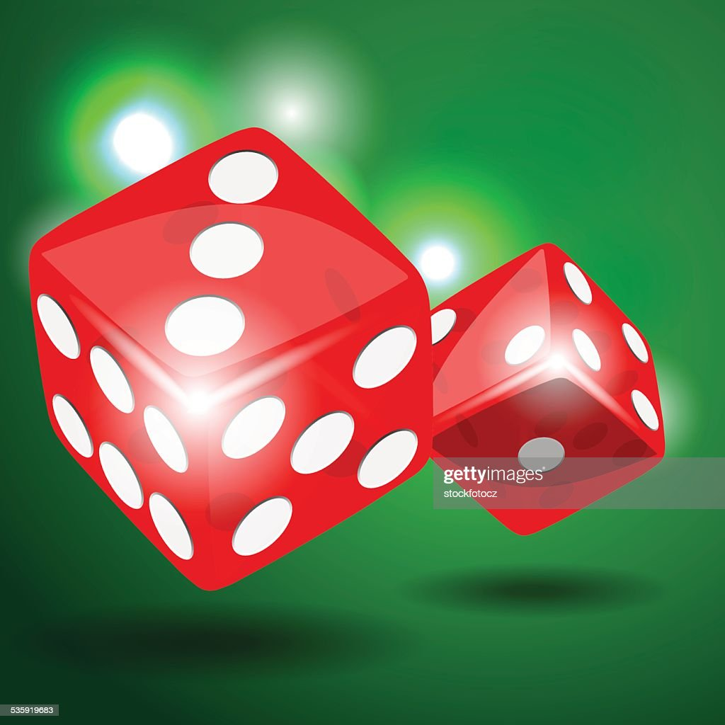 Red dice : Vector Art