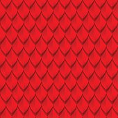 Red dragon scales seamless background texture. Vector illustration