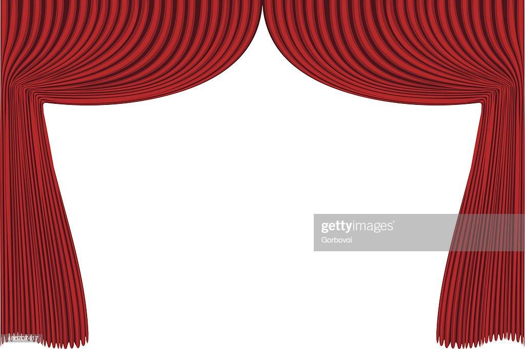 cortinas rojas arte vectorial