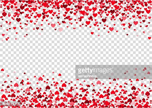 Red flying heart confetti. : Vector Art