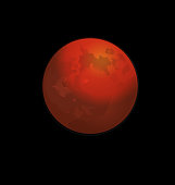Red full moon vector icon web background icon illustration template