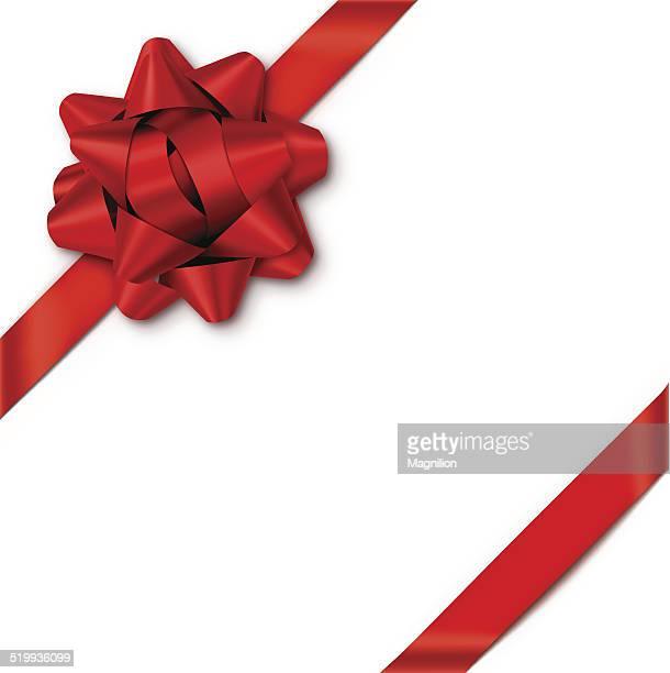 Bow cadeau rouge avec rubans