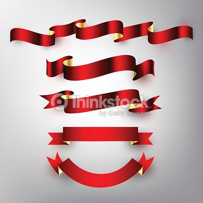 38baf0382 Red Gold Glossy Ribbon Vector Design Banner Badge Icon Vector stock ...