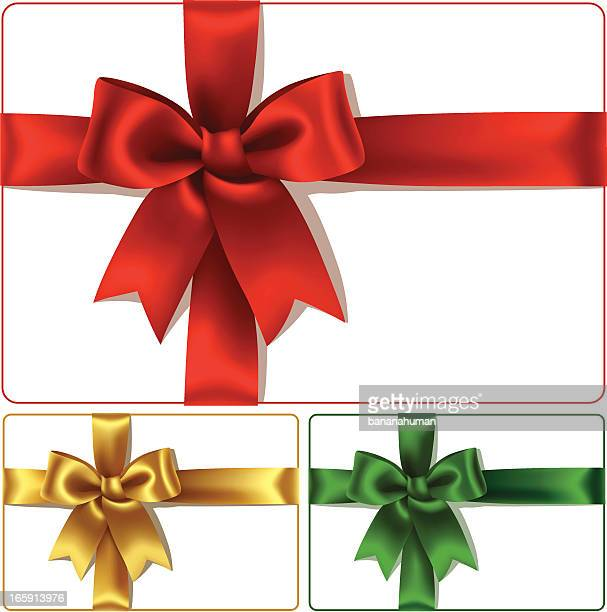 Red Golden and Green Bows