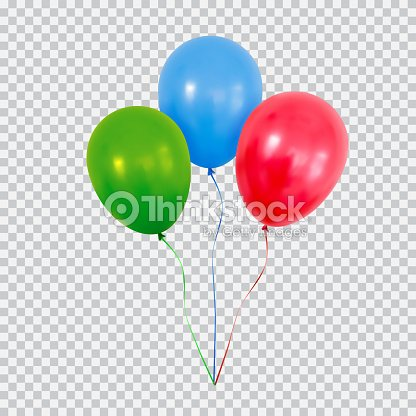 red green and blue helium balloons set isolated on transparent background arte vettoriale. Black Bedroom Furniture Sets. Home Design Ideas