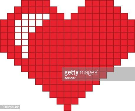Ícone de vetor de coração vermelho : Arte vetorial