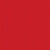 Red knitted texture, seamless pattern. Vector illustration