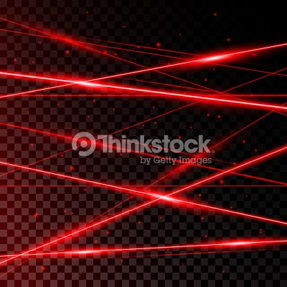 Red Laser Beams : stock vector