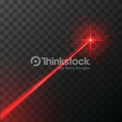 red laser effect : stock vector