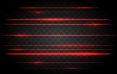 Red laser lights. Vector bright lights of neon or laser, red lamp light graphic effect