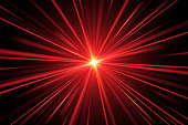 Red light rays in vector