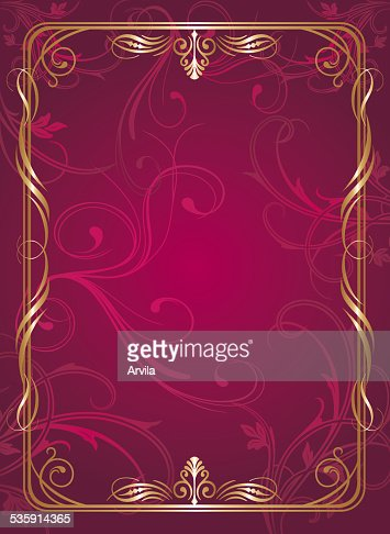 Menú de diseño de página rojo : Arte vectorial