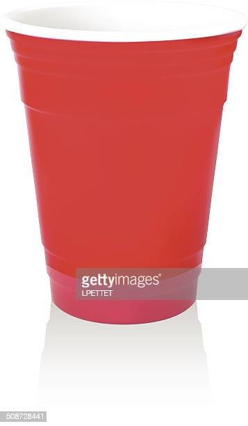 Red Party-Cup-Vektor-Illustration