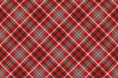 Red pixel plaid seamless pattern. Vector illustration.