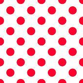 Red polka dot  seamless pattern. vector