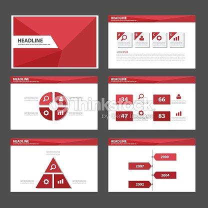 Red Polygon Infografik Presentation Template Element Flatdesign ...