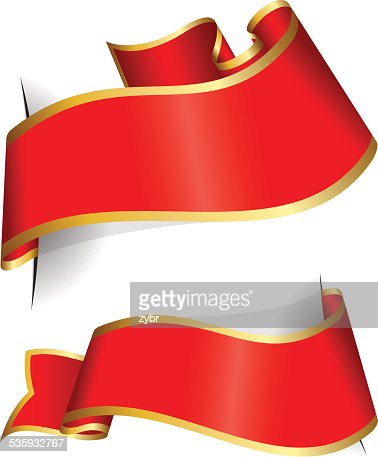 Red ribbon collection : Vector Art