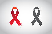 Red ribbon, world aids day symbol, 1 december. Vector illustration. EPS10
