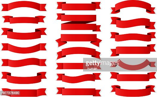 Red Ribbons : Vector Art