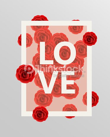 Red roses floral design elements. Vector illustration.