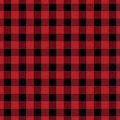 Red seamless lumberjack pattern design.