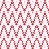 Red wavy line seamless pattern. Vector seamless ripple texture. Waves lines isolated on white background. Lines abstract. Waviness vector illustration in EPS 10 format.