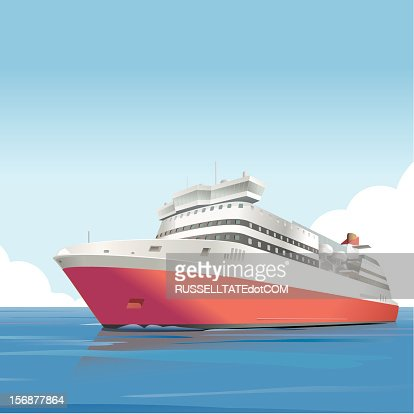 Red ship : Vector Art