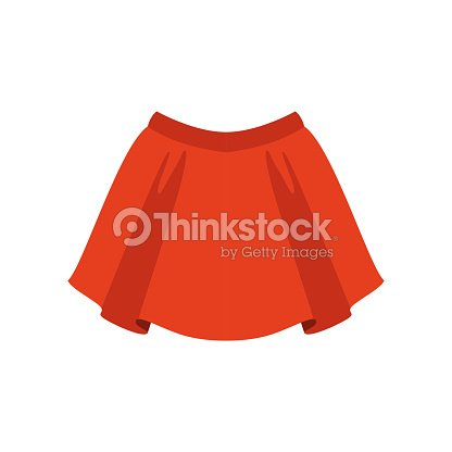 11292fe79ce043 Red skirt, fashion women clothes vector Illustration on a white background