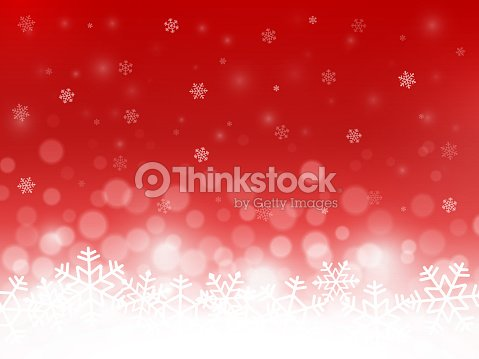 Red snow background. Snowflakes with particles and bokeh. Blurred backdrop. Christmas background. Holiday winter theme. Vector illustration : stock vector