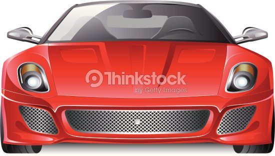 Red Sports Car Front View Vector Art Thinkstock