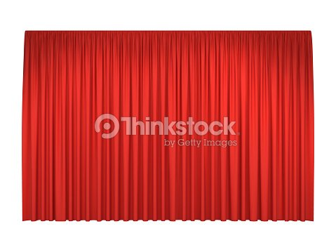 Red stage curtains : stock vector