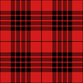 Red and black seamless traditional tartan plaid pattern design.