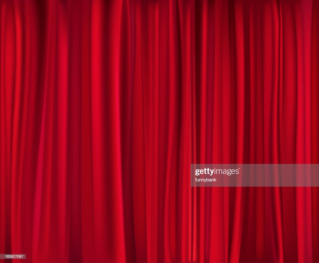 Closed theater curtains - Red Theatre Curtain Which Has Been Closed Vector Art
