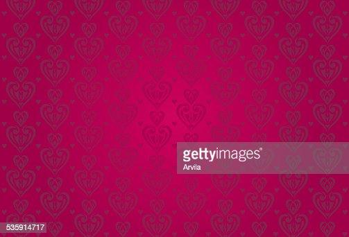 Vermelho vintage cartão de Dia dos Namorados com corações fundo : Arte vetorial