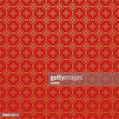 Papier Peint Rouge Style Asiatique Clipart Vectoriel Thinkstock