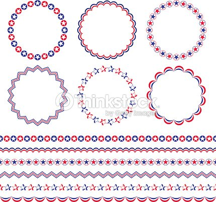 Red White Blue Patriotic Frames And Borders Vector Art | Thinkstock