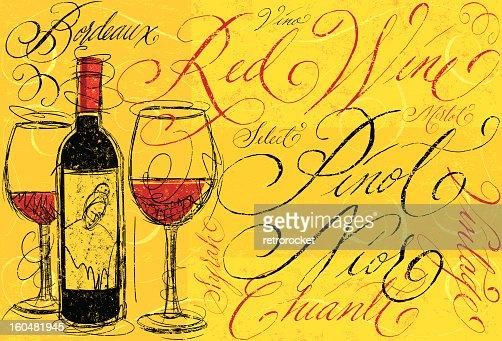 Red Wine : Vector Art