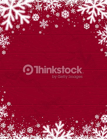 Red Wooden christmas background with blurred white snowflakes, vector illustration : stock vector