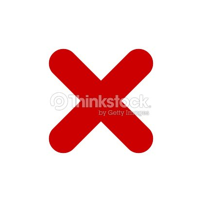 Red X Mark Icon Cross Symbol Vector Art Thinkstock