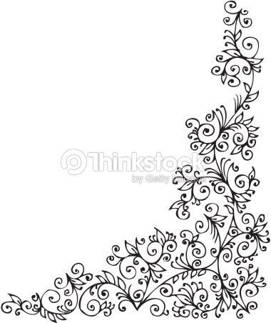 elegante florale vignettierung cccxxxvii vektorgrafik thinkstock. Black Bedroom Furniture Sets. Home Design Ideas
